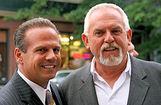 Rhode Island International Film Festival - David Cicilline and John Ratzenberger at the 2008 festival