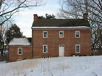 National Register of Historic Places listings in Clark County, Ohio - Image: David Crabill House, rear distant