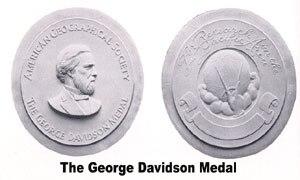 George Davidson Medal - Image: Davidson medal