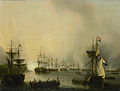 De beschieting van Palembang, Sumatra, 24 juni 1821 Rijksmuseum SK-A-1134.jpeg
