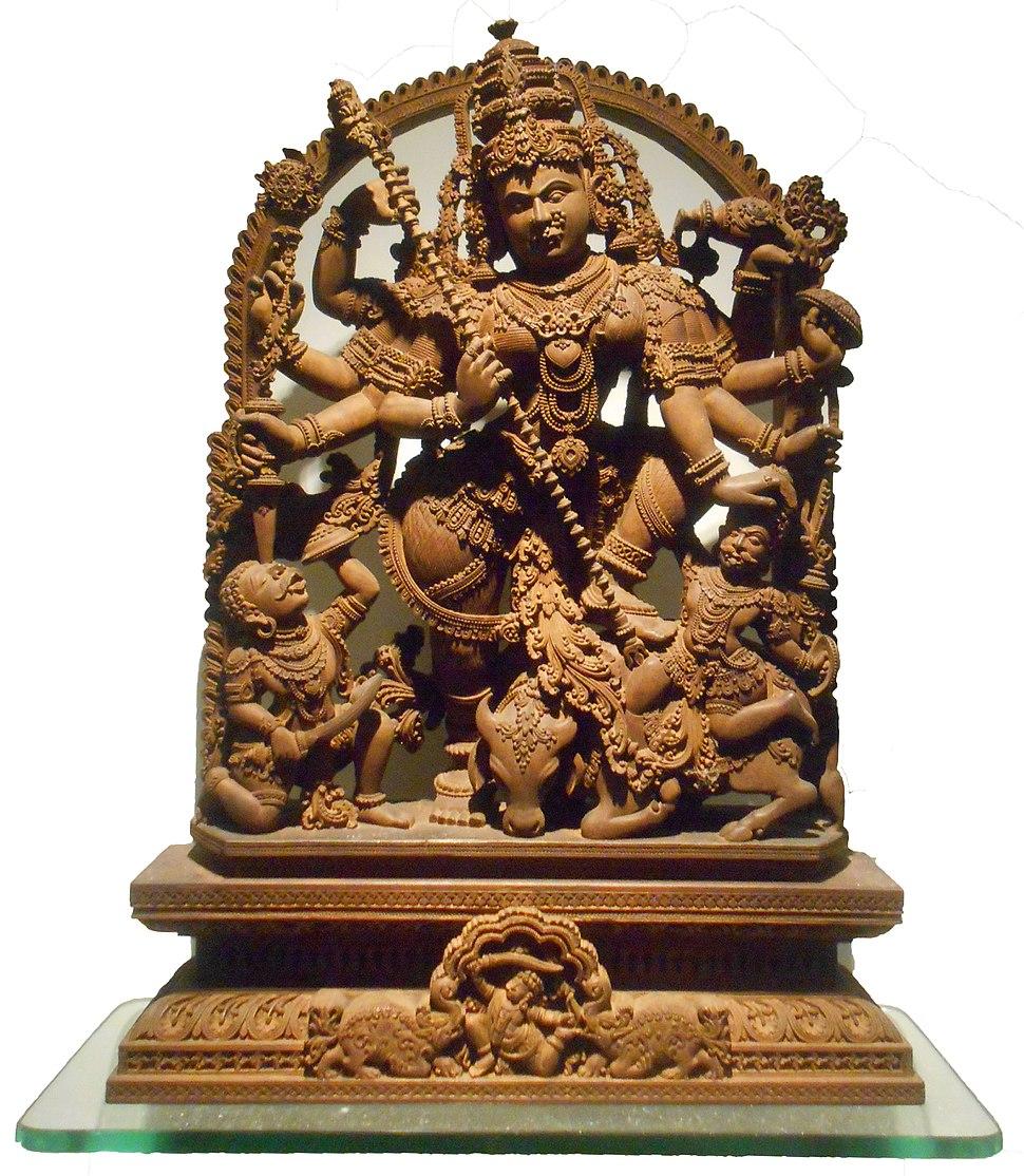 Debi Durga Sculpture by Sandalwood Murshidabad WB 30 01 2018