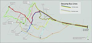 DeCamp Bus Lines - Map of DeCamp Routes