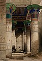 Decorated pillars in the portico of the temple at Philae, Eg Wellcome V0049304.jpg