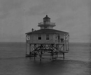Deepwater Shoals Light - Undated photograph of Deepwater Shoals Light (USCG)