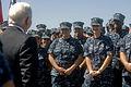 Defense.gov News Photo 100812-D-7203C-007 - Secretary of Defense Robert M. Gates shares a laugh with sailors on the USS Higgins DDG 76 in San Diego, Calif., on Aug. 12, 2010.jpg