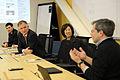 Defense.gov News Photo 110214-F-DQ383-001 - Deputy Secretary of Defense William J. Lynn III receives a brief on cloud computing from representatives of Google in San Francisco Calif. on.jpg