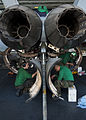 Defense.gov News Photo 120113-N-BT887-277 - Sailors perform maintenance on an F A-18E Super Hornet from Strike Fighter Squadron 14 aboard the aircraft carrier USS John C. Stennis CVN 74 in.jpg