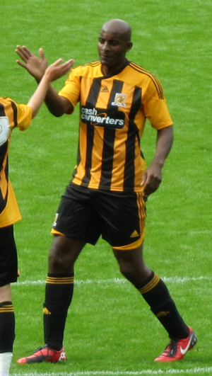 Dele Adebola - Adebola playing for Hull City in 2011