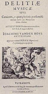 Joachim van den Hove Flemish/Dutch composer