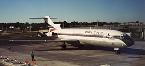 Delta Air Lines Flight 1141 - A Delta Air Lines Boeing 727 similar to the aircraft involved in the accident.