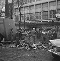 Demonstraties in Brussel tegen de Eenheidswet, stakers trekken door Luik, Bestanddeelnr 911-9367.jpg