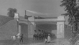 Charles Fox (civil and railway engineer) - Image: Denbigh Hall Bridge on the London and Birmingham railway