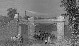 Charles Fox (civil and railway engineer) - Image: Denbigh Hall Bridge on the London and Birmingham railway