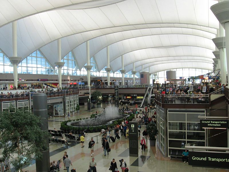 Architecture fabric roof of Denver International Airport