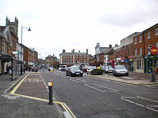 Dereham town in Norfolk, England