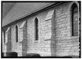Detail, west side - Holy Trinity Episcopal Church, 615 Sixth Avenue, South, Nashville, Davidson County, TN HABS TENN,19-NASH,3-6.tif
