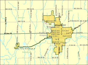 Detailed map of Kingman, Kansas.png