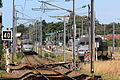 Deux TGVA se croisent en gare de La Baule par Cramos.JPG