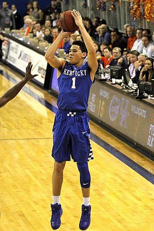 Devin Booker - Booker with the Kentucky Wildcats in 2015