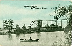 1910s postcard of the Dey Road Bridge in Noble Township