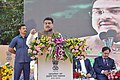Dharmendra Pradhan addressing the gathering at the inauguration of supply of Compressed Natural Gas (CNG) and CNG-run vehicles, in Bhubaneswar, Odisha.jpg