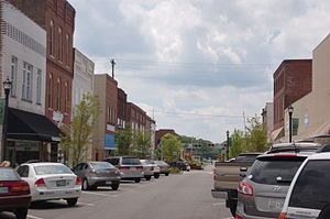 Dickson, Tennessee - Downtown business district of Dickson