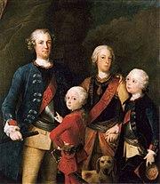 Die Söhne von Friedrich Wilhelm I