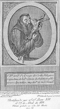 Retrato de Fray Diego José de Cádiz, grabado conservado en la ...