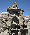 Differentially cemented & eroded sandstone (member C, Uinta Formation, Eocene; Fantasy Canyon, Utah, USA) 44 (24818229926).jpg