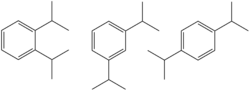 Diisopropylbenzene isomers.png