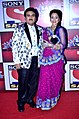 Dilip Joshi and Disha Vakani at SAB Ke Anokhe Awards.jpg
