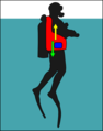 Diver with later jacket BCD at surface.png