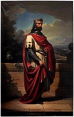 Don Aurelio, rey de Asturias, por Eduardo Cano.