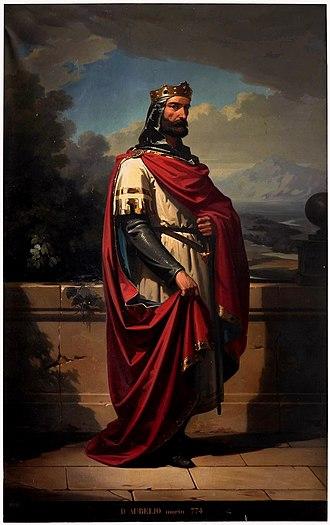 Aurelius of Asturias - Image: Don Aurelio, rey de Asturias (Museo del Prado)