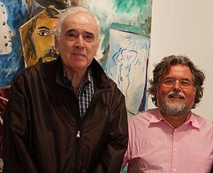 Donald Kuspit - Donald Kuspit and Stefan Szczesny at 532  Gallery Thomas Jaeckel, September 2012
