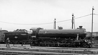GNR Class O2 - O2/2 63942 at Doncaster 1961