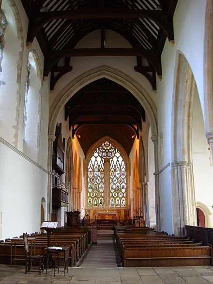 Dorchester Abbey in Oxfordshire; a smaller house with a net income below PS200-year, dissolved in 1536 and purchased for a parish church DorchesterAbbey Interior Nave&EastWindow.JPG