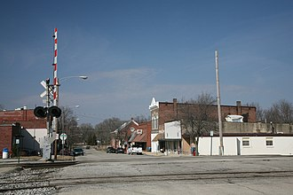 Sidney, Illinois - Level crossing on South David St.