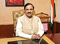 Dr. Mahesh Sharma taking charge as the Minister of State for (Independent Charge) Tourism, in New Delhi on November 12, 2014.jpg