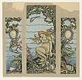 """Drawing, """"The Mermaid Window"""", Design for Stained Glass Window for the A.H. Barney Residence, New York, NY, 1882 (CH 18404391).jpg"""