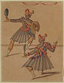 "Drawing of Two ""Americans"" for Ballet de la Douairière de Billebahaut MET 60.611.55.jpg"