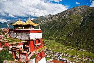 Maizhokunggar County - Drigung Monastery in the east of the county