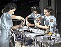 Drilling a wing bulkhead for a transport plane at the Consolidated Aircraft Corporation1a34931v (cropped).jpg