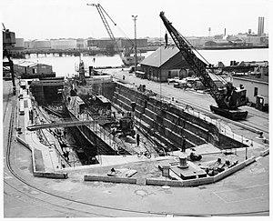 Drydock Number One, Norfolk Naval Shipyard - Image: Drydock Number 1