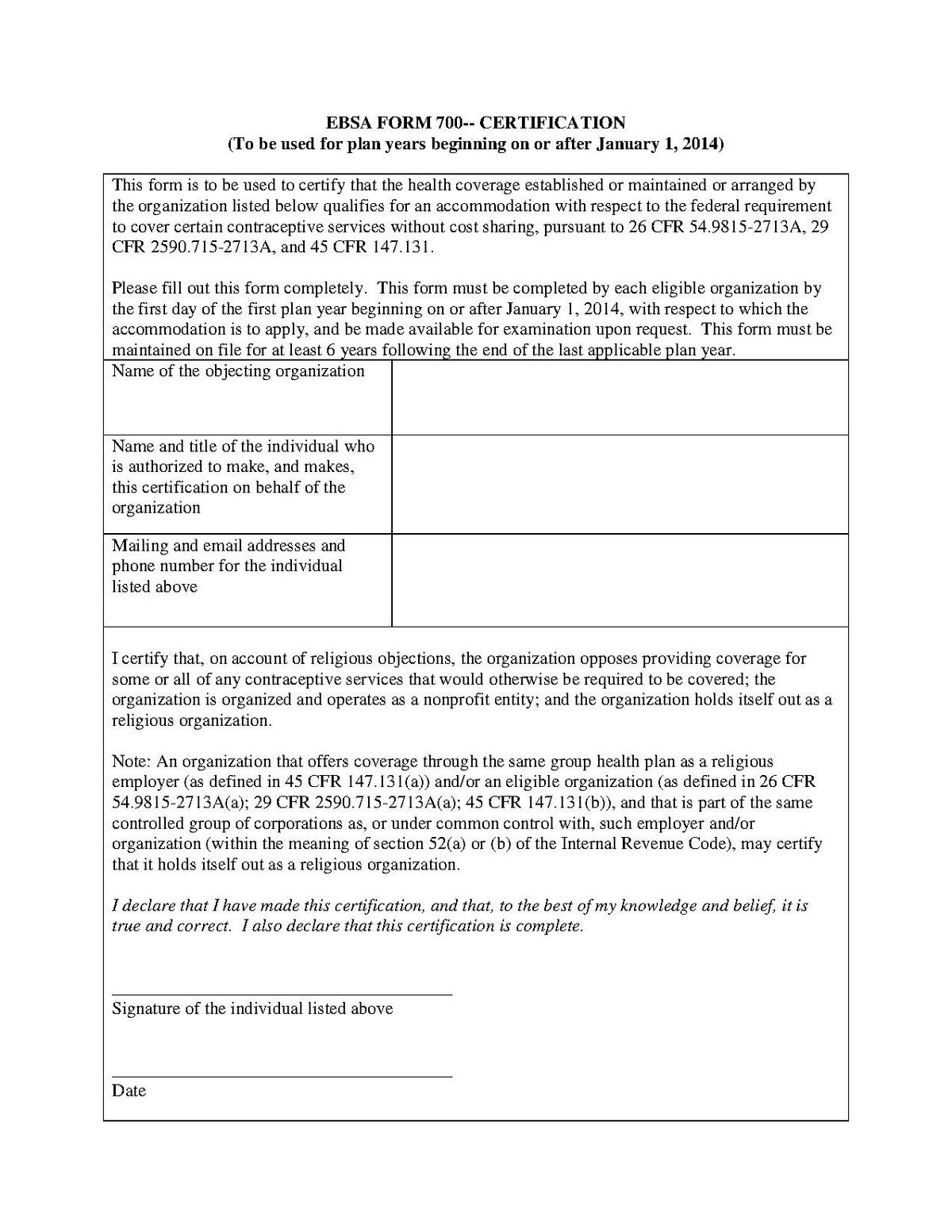 EBSA Form 700 - Wikipedia