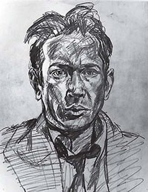 E. E. Cummings - Sketched self-portrait circa 1920