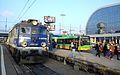 EP07 347 and Solaris bus Poznan Glowny.jpg