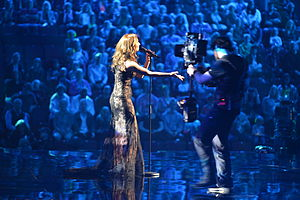 Cyprus in the Eurovision Song Contest 2013 - Despina Olympiou at the first semi-final dress rehearsal in Malmö.