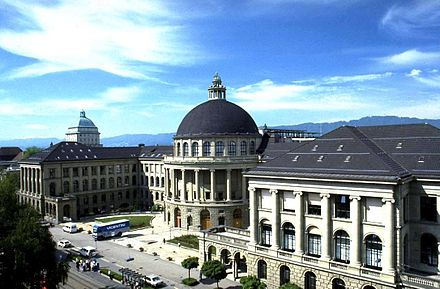 The campus of the Swiss Federal Institute of Technology Zurich (ETHZ). ETHZ.JPG
