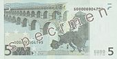 EUR 5 reverse (2002 issue)